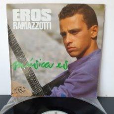 Discos de vinilo: EROS RAMAZZOTTI. MUSICA ES. HISPAVOX. 1988. ESPAÑA.. Lote 218609855