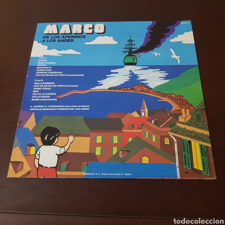 Discos de vinilo: MARCO - DE LOS APENINOS A LOS ANDES ( IMPECABLE ) - Foto 2 - 218611260