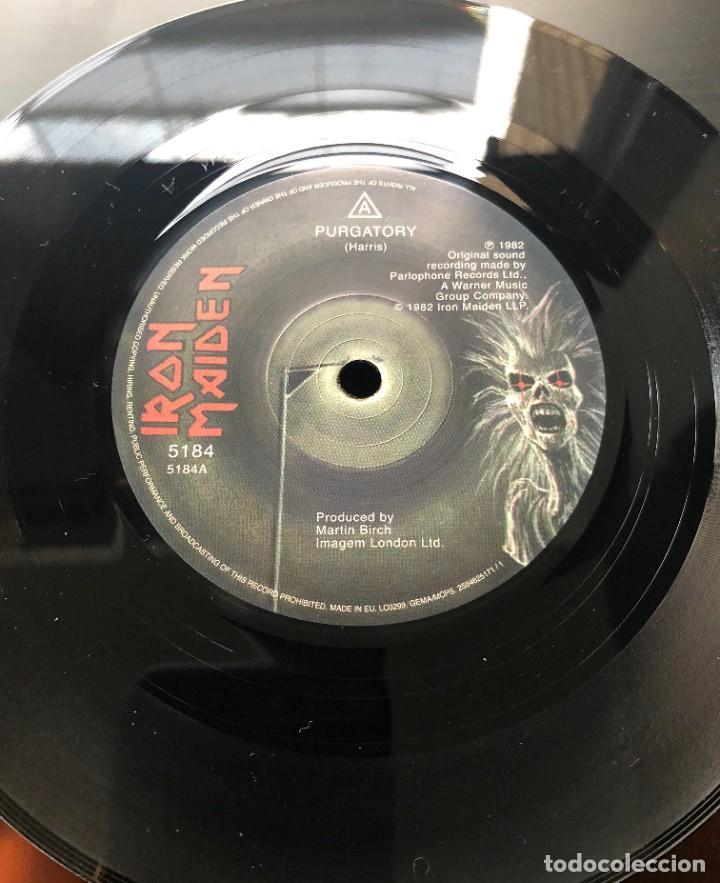 Discos de vinilo: Iron Maiden ?Purgatory Parlophone ? 2564625171 Single,UK & Europe 2014 NUEVO, SIN REPRODUCIR - Foto 2 - 218611893