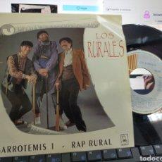 Discos de vinilo: LOS RURALES SINGLE GARROTEMIS 1 1991. Lote 218612520