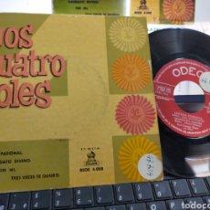 Discos de vinilo: LOS CUATRO SOLES EP LOCURA PASIONAL + 3 ESPAÑA 1958. Lote 218613742