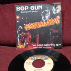 "Discos de vinilo: PARLIAMENT - BOP GUN (ENDANGERED SPECIES), SINGLE 7"", EDICIÓN FRANCESA. Lote 218615928"