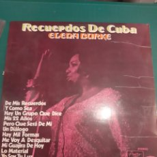 Discos de vinilo: 1971 RECUERDOS DE CUBA ELENA BURKE LP. Lote 218616787