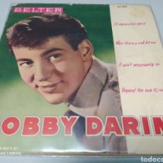 Discos de vinilo: BOBBY DARIN–I'LL REMEMBER APRIL / WAS THERE A CALL FOR YOU / IT AIN'T NECESSARILY SO / EP 1960.. Lote 218631560