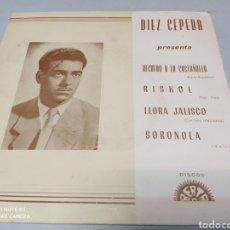 Discos de vinilo: DIEZ CEPEDA–RECUERDO A LA CASTAÑUELA . BERTA 1968. BUEN ESTADO. Lote 218633301
