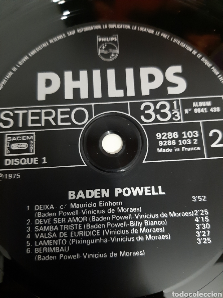 Discos de vinilo: DIFÍCIL! BADEN POWEL. 2LPS. PHILIPS. 1975. FRANCIA. - Foto 7 - 218636345