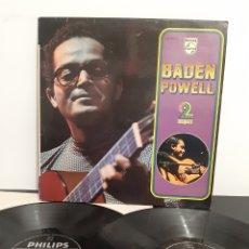 Discos de vinilo: DIFÍCIL! BADEN POWEL. 2LP'S. PHILIPS. 1975. FRANCIA.. Lote 218636345