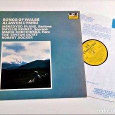 Discos de vinilo: VINILO SONGS OF WALES ALAWON CYMRU. Lote 218637461