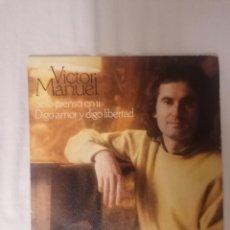 Discos de vinilo: DISCO VINILO SINGLE SÓLO PIENSO EN TI - VÍCTOR MANUEL -. Lote 218639891
