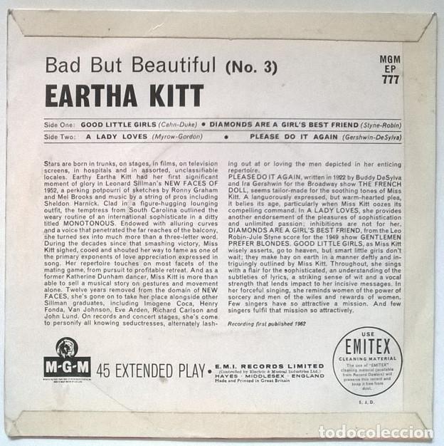 Discos de vinilo: Eartha Kitt Bad but beautiful n 3. Good little girls/ Diamonds are/ A lady loves/ Please do it again - Foto 2 - 218640188