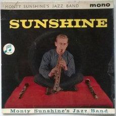 Discos de vinilo: MONTY SUNSHINE'S JAZZ BAND. SUNSHINE: CREOLE LOVE CALL/ SOUTH/ TUXEDO RAG/ SATURDAY. COLUMBIA 1961. Lote 218642793