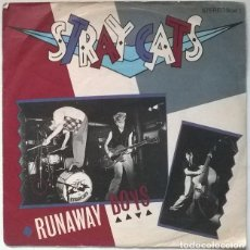 Discos de vinilo: STRAY CATS. RUNAWAY BOYS/ MY ONE DESIRE. ARISTA, UK 1980 SINGLE. Lote 218643147