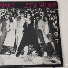 """Discos de vinilo: PRINCE LET'S WORK 12"""" PRIMERA EDICION USA 1981. Lote 218644145"""
