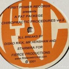 Discos de vinilo: FIRST POWER CREW - A FAT PACKEGE OF CHIROPRACTIC PROCEDURES VOL.2 - 2001 - LP. Lote 218645028