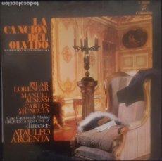 Discos de vinilo: LA CANCION DEL OLVIDO - ROMERO FERNANDEZ SHAW / LP COLUMBIA 1970 / BUEN ESTADO RF-8643. Lote 218653531
