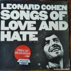 Discos de vinilo: LEONARD COHEN - SONGS OF LOVE AND HATE - LP 1983 SPAIN. Lote 218669172