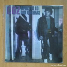 Discos de vinilo: COZ - APUESTO LO QUE QUIERAS / JUEGA PARA GANAR - SINGLE. Lote 218670092