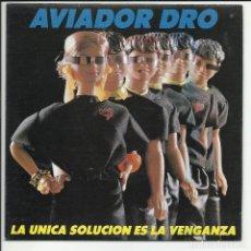 Discos de vinilo: AVIADOR DRO SG 1986 PROMO LA UNICA SOLUCION ES LA VENGANZA/ NUNCA PUEDO DECIR NO TECNO POP. Lote 218677966