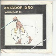 Discos de vinilo: AVIADOR DRO EP NUCLEAR SI 1982 SINTONIA/ EL RETORNO DE GODZILLA/ VARSOVIA EN LLAMAS MINT + 3 HOJAS. Lote 218679990