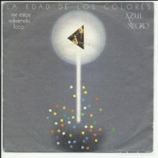 Discos de vinilo: AZUL Y NEGRO SG MERCURY 1981 ME ESTOY VOLVIENDO LOCO/ MAR DE LA TRANQUILIDAD TECNO POP GRETA. Lote 218680475