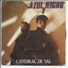 Discos de vinilo: AZUL Y NEGRO SG MERCURY 1981 CATEDRAL DE SAL/ LA ULTIMA ESTRELLA TECNO POP GRETA. Lote 218680621