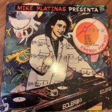 Discos de vinilo: MIKE PLATINAS PRESENTA NRG4U ENERGY FOR YOU - DOBLE DISCO VINILO DE MEZCLAS - MIX - MEGAMIX. Lote 218701632