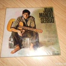 Discos de vinil: JOAN MANUEL SERRAT CANTA LES SEVES CANÇONS - CANÇO DE MATINADA - EDIGSA 1966. Lote 218711775