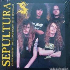 Discos de vinilo: SEPULTURA – CASTLE MANIFEST - LIVE AT DONINGTON 1994 TV BROADCAST -LP-. Lote 218714850