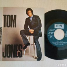 Discos de vinilo: TOM JONES - THE YOUNG NEW MEXICAN PUPPETEER / ALL THAT I NEED IS SOME TIME - SINGLE DECCA SPAIN 1972. Lote 218724370