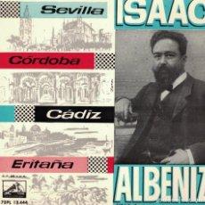 Discos de vinil: ALBENIZ - SEVILLA/CORDOBA/CADIZ/ERITAÑA (SINFONICA ESPAÑOLA, DR. JOSE Mª FRANCO). Lote 218725270