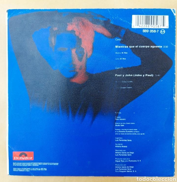 Discos de vinilo: Single Miguel Ríos - Mientras el cuerpo aguante - Foto 2 - 218731252