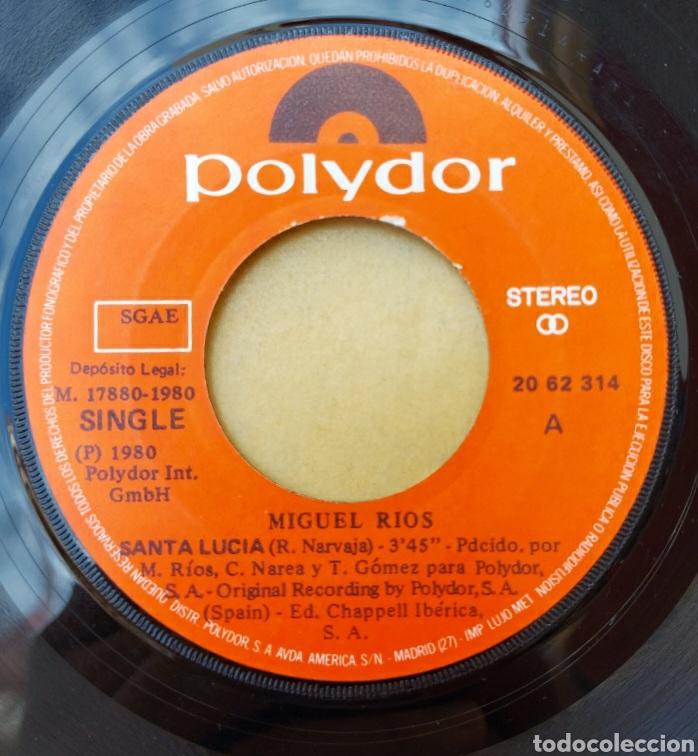 Discos de vinilo: Single Miguel Ríos - Santa Lucía/el laberinto - Foto 3 - 218731447