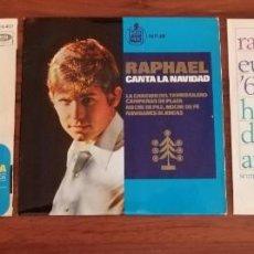 Discos de vinilo: LOTE TRES DISCOS DE VINILO (EP) DE RAPHAEL. AVE MARÍA, EUROVISIÓN, NAVIDAD. Lote 218731550