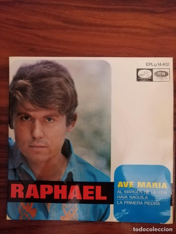 Discos de vinilo: LOTE TRES DISCOS DE VINILO (EP) DE RAPHAEL. AVE MARÍA, EUROVISIÓN, NAVIDAD - Foto 2 - 218731550