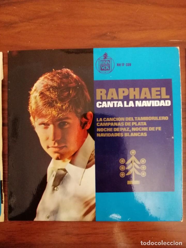 Discos de vinilo: LOTE TRES DISCOS DE VINILO (EP) DE RAPHAEL. AVE MARÍA, EUROVISIÓN, NAVIDAD - Foto 3 - 218731550