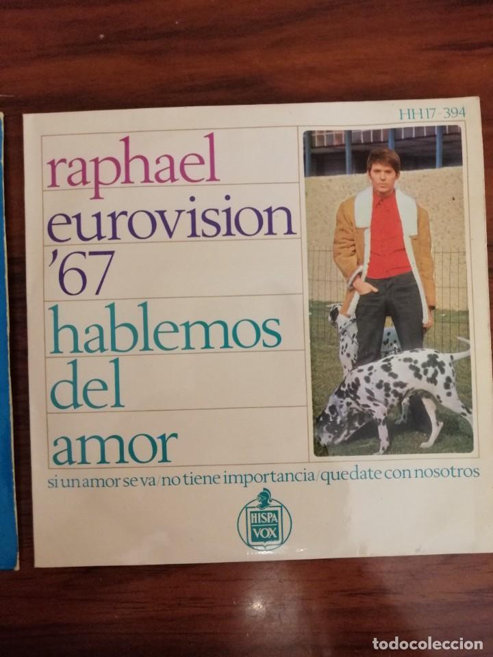 Discos de vinilo: LOTE TRES DISCOS DE VINILO (EP) DE RAPHAEL. AVE MARÍA, EUROVISIÓN, NAVIDAD - Foto 4 - 218731550