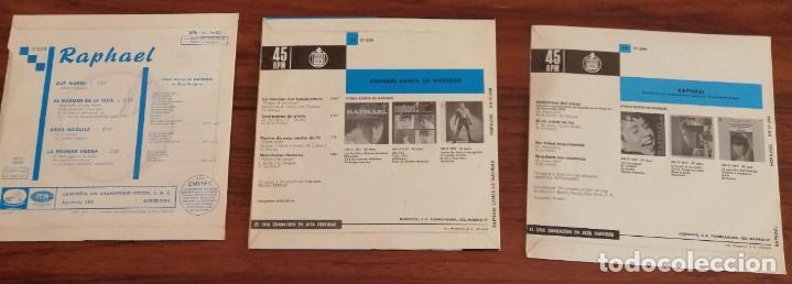 Discos de vinilo: LOTE TRES DISCOS DE VINILO (EP) DE RAPHAEL. AVE MARÍA, EUROVISIÓN, NAVIDAD - Foto 5 - 218731550