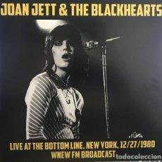Discos de vinilo: JOAN JETT & THE BLACKHEARTS ?– LIVE AT THE BOTTOM LINE, NEW YORK, 12/27/80. WNEW FM BROADCAST -LP-. Lote 218731822