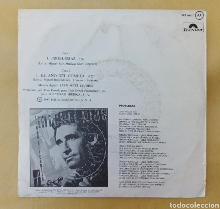 Discos de vinilo: Single Miguel Ríos- problemas - Foto 2 - 218731987