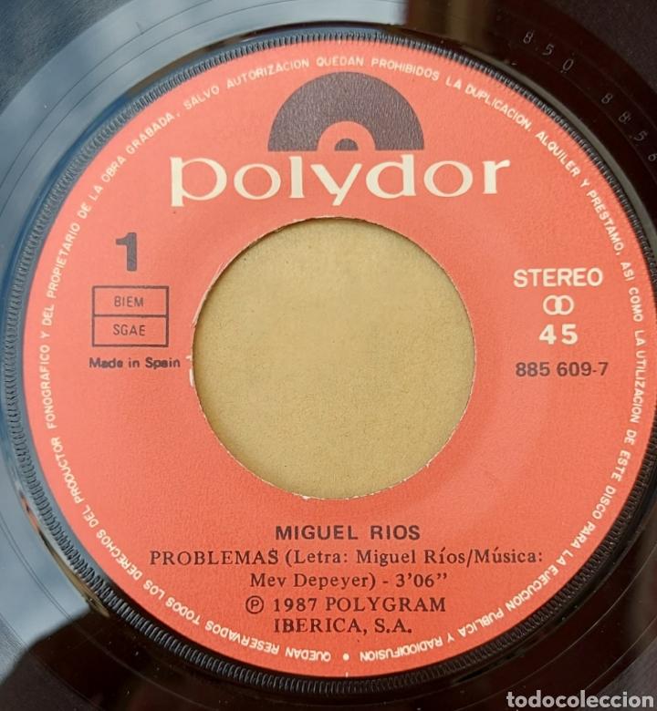 Discos de vinilo: Single Miguel Ríos- problemas - Foto 3 - 218731987