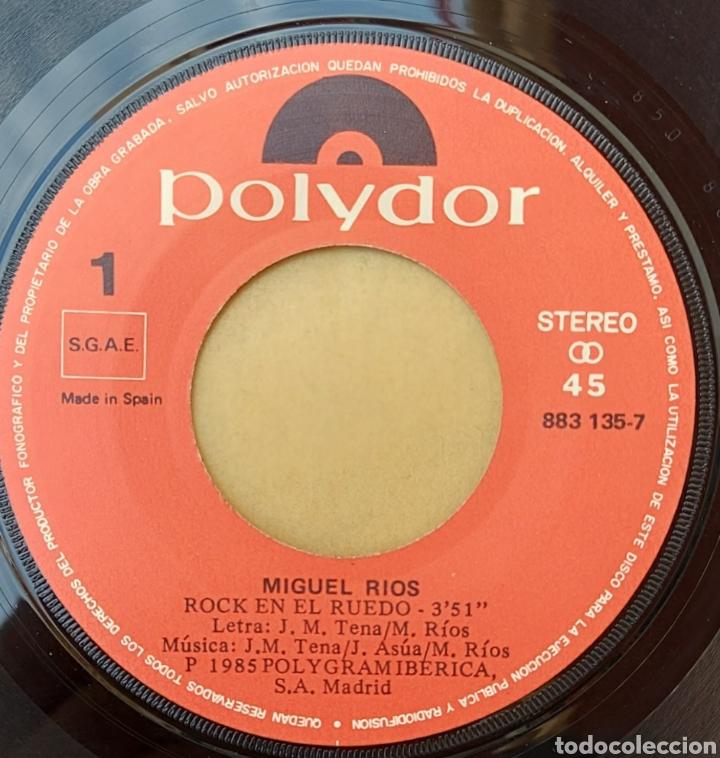 Discos de vinilo: Single Miguel Ríos - Rock en el ruedo - Foto 2 - 218732943