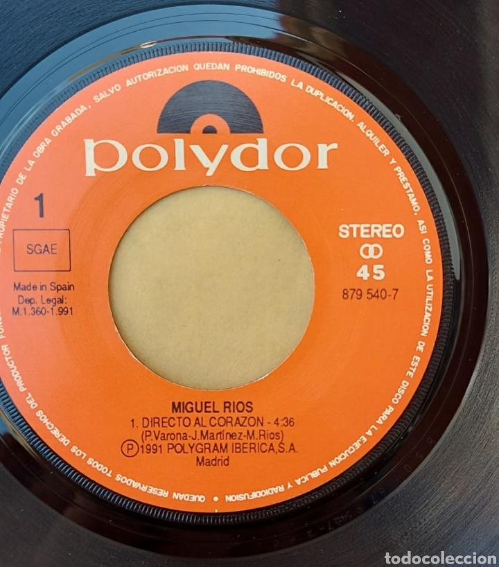 Discos de vinilo: Single Miguel Ríos- Directo al corazón ? - Foto 3 - 218733393