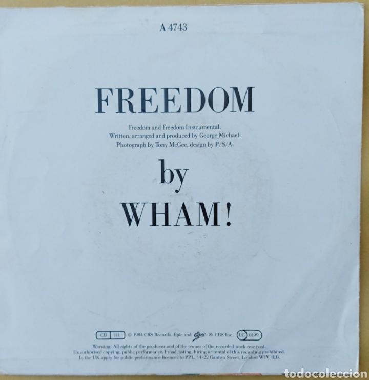 Discos de vinilo: Single Wham- Freedom - Foto 2 - 218733956
