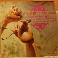 Discos de vinilo: FIESTA FLAMENCA - DIEGO SACROMONTE Y SU CUADRO FLAMENCO. Lote 218737001
