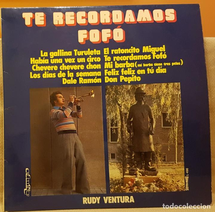 TE RECORDAMOS FOFÓ - RUDI VENTURA (Música - Discos - LPs Vinilo - Música Infantil)