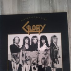 """Dischi in vinile: GLORY """" DANGER IN THIS GAME """" LP DE BOZZ 1989. EDICIÓN ESPAÑOLA CON ENCARTE. MUY RARO.. Lote 218738228"""