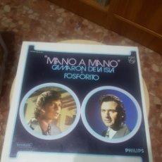 Discos de vinilo: CAMARON DE LA ISLA Y FOSFORITO LP MANO A MANO CAJA 2 LP. Lote 218738613