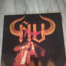 """Discos de vinilo: ÑU """" FUEGO """". LP DEL SELLO CHAPA ORIGINAL DE 1983. CON ENCARTE .MUY LIMITADO.. Lote 218739122"""