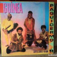 Discos de vinilo: GUINEA - PAQUIDERMO + SOMOS LOS CONGUITOS (CBS, 1982) PACO ZAMORA - AFRICA FUNK MOVIDA LUEGO MÁSCARA. Lote 218744531