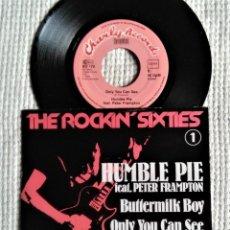 "Discos de vinilo: HUMBLE PIE FEAT. PETER FRAMPTON - "" BUTTERMILK BOY + 1 "" SINGLE 7"" GERMANY 1975. Lote 218748861"